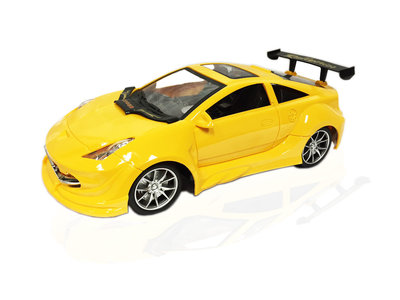 RC-Race-Model-Auto-|Yellow-Emulation-Car-1:16 geel