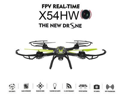 Syma X54HW live Camera Drone FPV Real-Time  + Altitude mode zwart