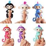 Finger Monkey -schattige baby aapje -wit (oplaadbaar)