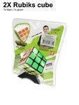 Breinbreker Kubus 2 in 1 PACK - Rubiks Cube 3x3x3 5.6CM