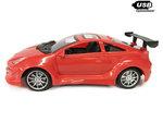 RC Race Model Auto |Red  Emulation Car 1:16 rood -oplaadbaar via usb
