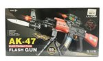 RC Graafmachine Truck afstand bestuurbaar + Speelgoed geweer | Flashing AK-47 GUN 69CM met geluid en lichtjes   | Incl. Batterij