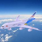 Airbus speelgoed vliegtuig + RC Graafmachine Truck afstand bestuurbaar | incl. Batterij