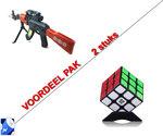 Rubiks Kubus 3X3X3 + Speelgoed geweer AK-47