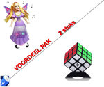 Rubiks Kubus 3X3X3 + Dancing Butterfly princess | incl. Batterij