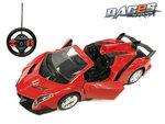 Rc cabrio sportwagen 1:14 - afstand bestuurbaar race auto - met stuurwiel zender - deuren open/dicht