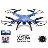 SYMA X5HW fpv cam +Altitude mode drone 2.4GHZ Blauw_