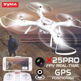 Syma X25 Pro Drone -GPS & terugkeer functie- Follow me - FPV Live draaibaar Camera -x25pro_