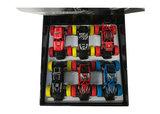 6 stuks off-road auto's in tray _