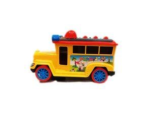 Speelgoed Discobusje met geluid en lichtjes -geel