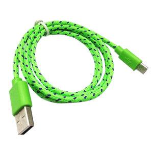 Micro usb stevig oplaad kabel |Samsung,HTC,Huawei,Nexus,Sony,Nokia,S6,S5,S6 plus Galxy Note -groen