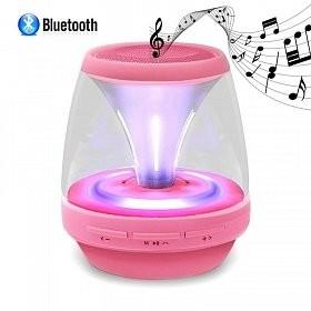 Wireless Bluetooth Mini Speaker |Draagbaar&Oplaadbaar |LED Light  -roze