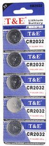 CR2032 3V Knoopcel batterijen |5 stuks in pak