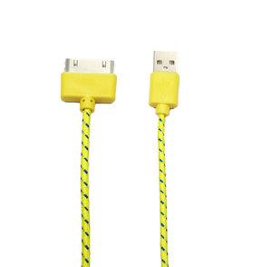 Stevig usb kabel iPhone 4S/iPad/iPod -Geel