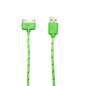 Stevig usb kabel iPhone 4S/iPad/iPod -groen