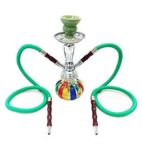 RASTA Shisha waterpijp HOOKAH 2slang -groen