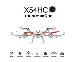 Syma x54hc hd camera Drone met altitude hover mode quadcopter - zwart