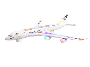 Airbus speelgoed vliegtuig  met led licht en geluid 59cm