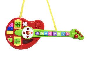 Cartoon speelgoed gitaar Orgel met instrument knopjes