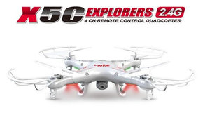 Syma X5C quadcopter met hd camera drone -wit
