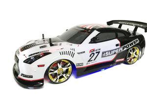 RC AUTO - Race auto -RC Drift Race Car 4x4 wielaandrijving | 30 km/u schaal 1:10 (wit)