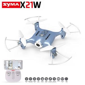 Syma X21W Delicate drone FPV live Camera quadcopter +App control functie -blauw