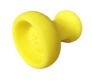 Siliconen tabakskop waterpijp rubber kop geel