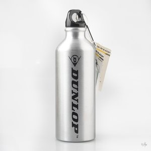 Sportfles 500ml aluminium Dunlop drinkfles -zilver