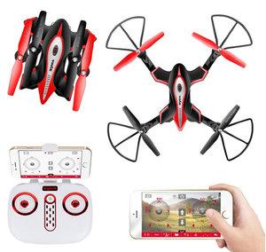 Syma X56W FPV Live Camera Drone |Opvouwbaar quadcopter - zwart
