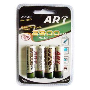 AA 1.2V Oplaadbaar Batterijen -2800 mAh  -Rechargeable ART