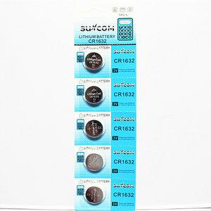 Suncom CR1632 Knoopcel Batterijen - 5 STUKS