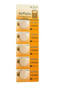 Suncom CR2025 Knoopcel Batterijen - 5 STUKS