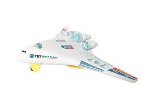 Future plane 797 speelgoed vliegtuig met led lichtjes en geluid - Jumbo Airplane