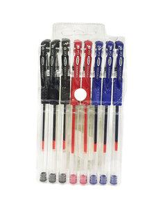 Rollerpen - set van 8 stuks pennen