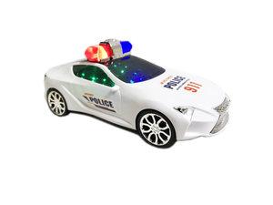 politie auto -speelgoed auto met geluid en lichtjes |police flash speed car wit
