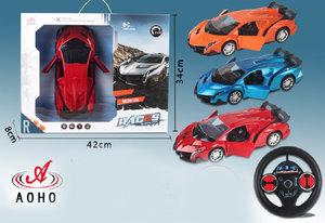 Rc race sportwagen - stuurwiel zender - oplaadbaar auto (Functie deuren Open/Dicht)