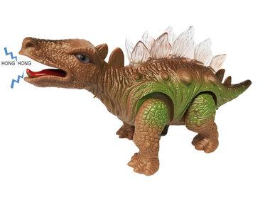 Dinosaurus speelgoed - Stegosaurus - met licht en Dino geluid 26 CM