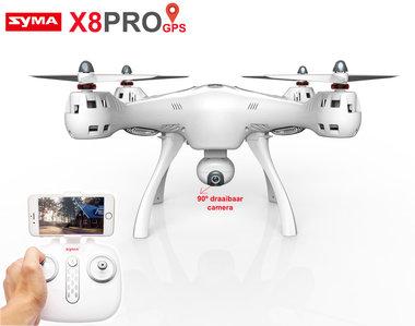 SYMA X8PRO met GPS + terug keer functie - HD live FPV Draaibaar Camera Drone