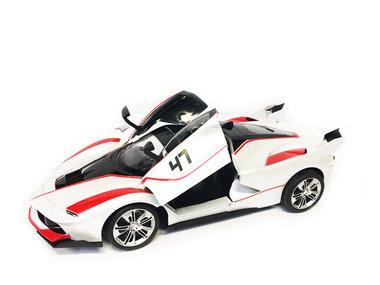 Rc Auto - Race Car - Sportwagen 42.5CM   Functie deuren Open/Dicht -Z-Car wit