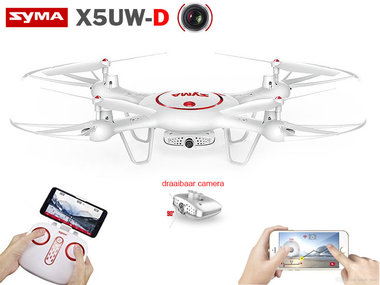 Syma X5UW-D drone -Optical Flow Positioning- FPV  Draaibaar camera - Hovermode -App control functie