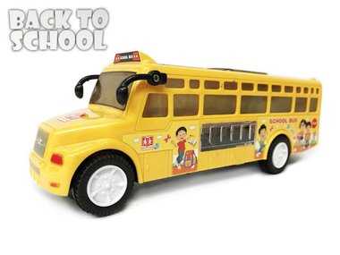 Schoolbus met Disco Led Lichtjes en Muziek - speelgoed busje