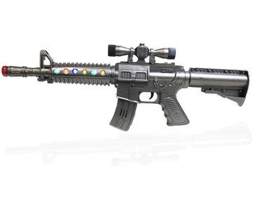M-27 Flash Gun - speelgoed geweer met LED lichtjes en Geluid