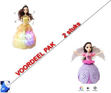 Little Princess Goud + Dancing Angel Girl Paars | incl. Batterij