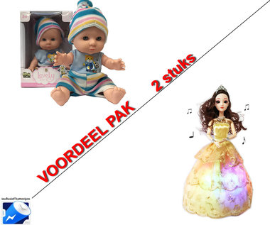 Little Princess goud + Lovely Baby pop | Incl. Batterij