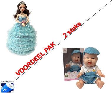 Little Princess Blauw + Lovely Baby pop | Incl. Batterij