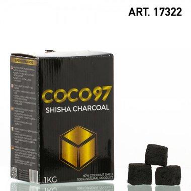 Dud COCO 97 - waterpijp vierkante kooltjes 1KG- 100% natuurlijk gemaakt!