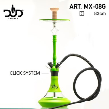 DUD Shisha Aluminium glass Neon Green - 4 Hose - 83CM -  2.0 waterpijp