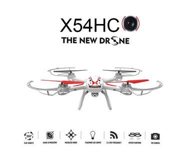 Syma x54hc hd camera Drone met altitude hover mode quadcopter - zwart