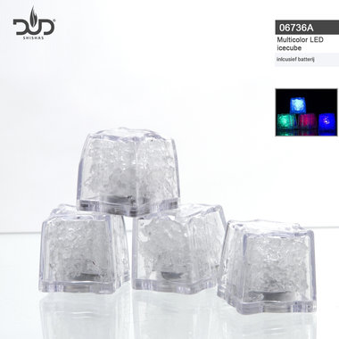 DUD -Big Led light Ice Cubes for hookahs -led ijsblokjes voor waterpijp verlichting