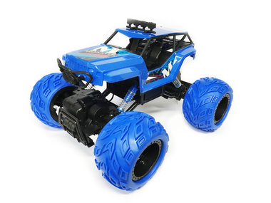Rc Monster Rock Crawler - 2.4G 4WD Monster Truck Brushed 1:12 Blauw